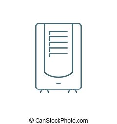Air conditioner linear icon concept. Air conditioner line vector sign, symbol, illustration.