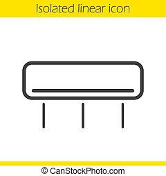 Air conditioner linear icon