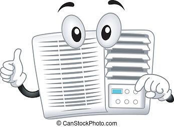 air-conditioner, mascote
