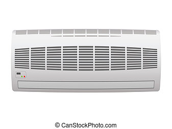 Air conditioner - Modern air conditioner with open grill