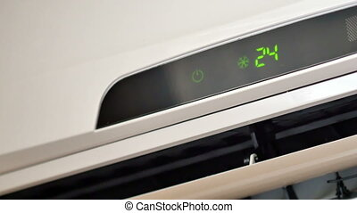 Air conditioner moving elements. 4k UltraHD video footage