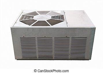 Air Conditioner - Old air conditioner outside unit isolated...