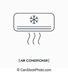 Air conditioner outline icon