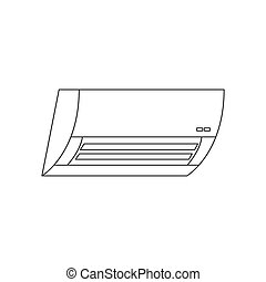 air conditioner outline icon vector design illustration