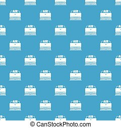 Air conditioner pattern vector seamless blue