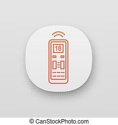 Air conditioner remote control app icon