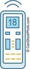 Air conditioner remote control color icon