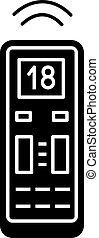 Air conditioner remote control glyph icon