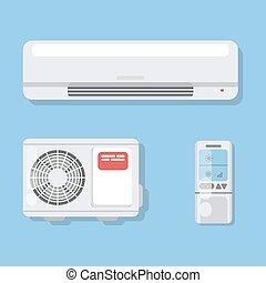 Air conditioner set.