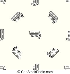 Air conditioner smart control pattern seamless vector