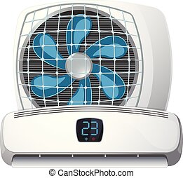 Air conditioner system on white background - Air conditioner...