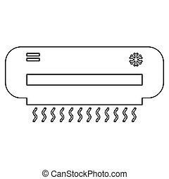 Air conditioner   the black color icon .