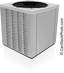 air conditioner unit closed vector.eps - Air conditioner...