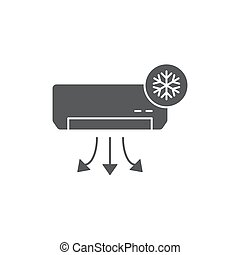 air conditioner vector icon concept, isolated on white background