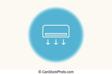 Air conditioner vector icon