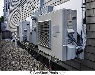 HVAC units - Air conditioning and heating power inverters...