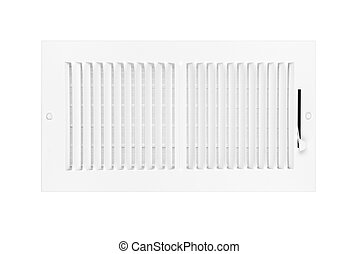 Air conditioning and heating vent on white - A new white...