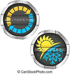 Air conditioning and ventilation vector illustration