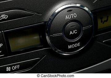 Air conditioning buttons of a car