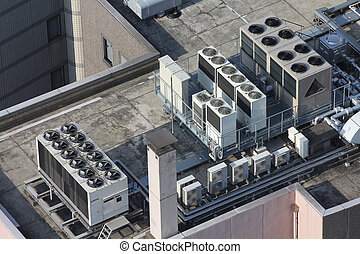 Air conditioning - Exhaust vents of industrial air...