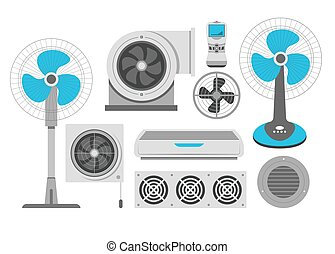 Air conditioning fan and industrial ventilation conditioner...