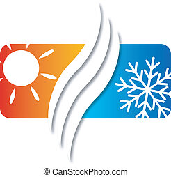 air conditioning for a home business, vector