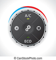Air conditioning gauge without led display