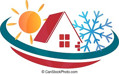 Air Conditioning Home - Emblem for sale houses for business...