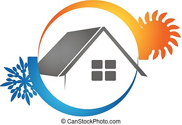 Air conditioning House vector - Air conditioning House for...