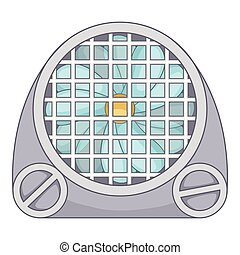 Air conditioning icon, cartoon style
