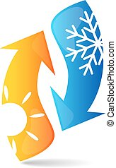 Air conditioning illustration business vector