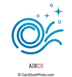 Air conditioning logo concept.