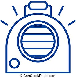 Air conditioning, portable heater line icon concept. Air...