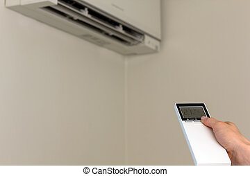 Air conditioning - Remote control directed on the air...