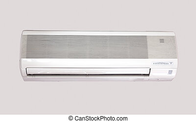 Air Conditioning over gray background