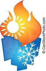 Air conditioning symbol design