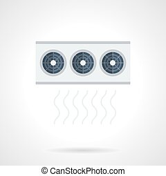Air conditioning system flat color vector icon