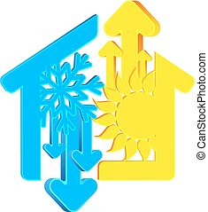 Air conditioning vector - Air conditioning for the house...