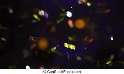air, confetti, fête, explosion