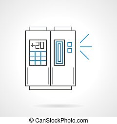 Air cooling equipment flat line vector icon