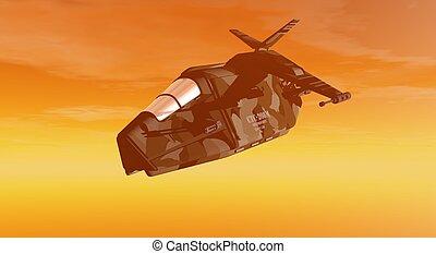 air craft - 3d render of aircraft