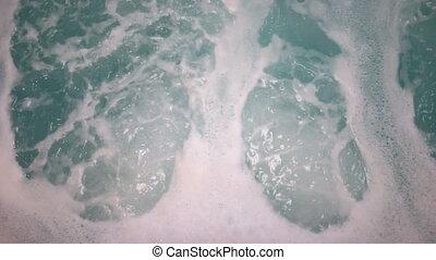 Air Creates Foam Bubbles Whirlpool Spa Hot Tub Bath House