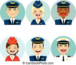 Air Crew Avatars - Professional air crew member avatars on...