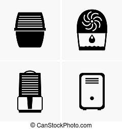 Air dehumidifiers - Set of air dehumidifiers