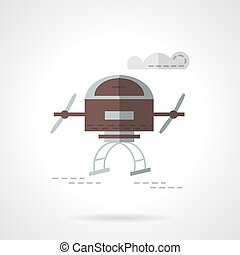 Air drone flat color vector icon