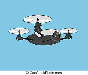 air drone - this is an illustration of drone with camera