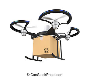 Air drone with carton package
