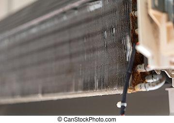 air, eau, nettoyage, propre, poussière, climatiseur