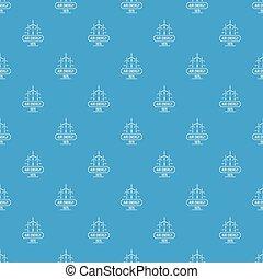 Air energy pattern vector seamless blue