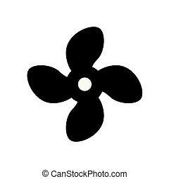 air fan ventilator icon- vector illustration